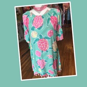 Simply Southern Mint Green Turtle Dress